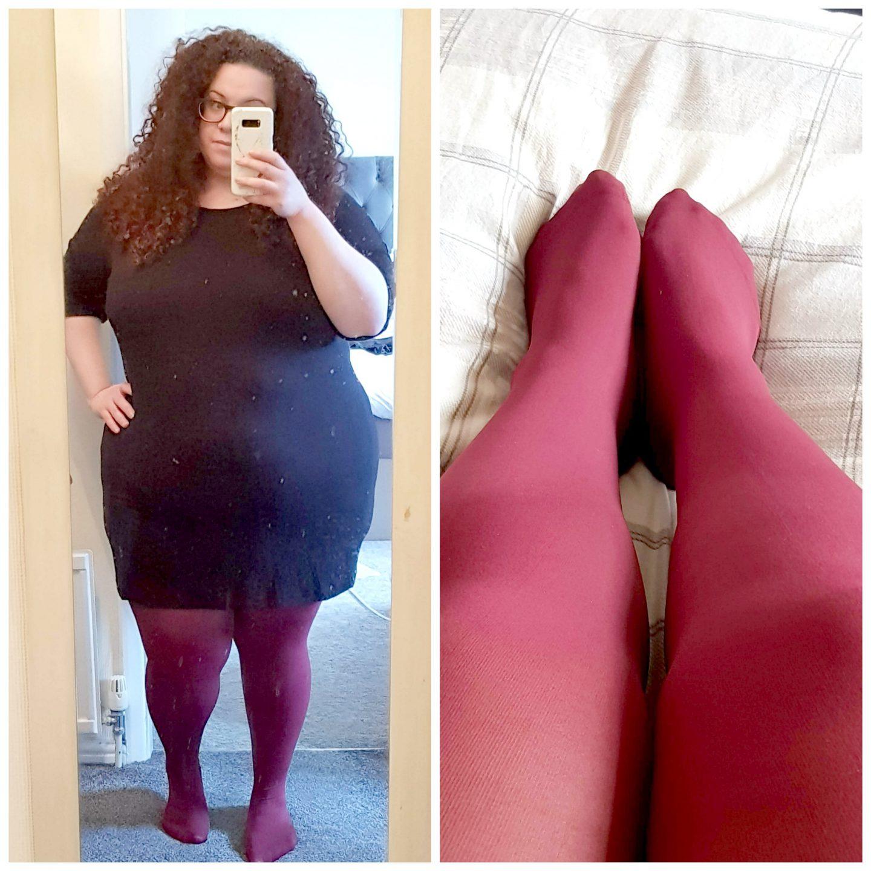 tights burgundy